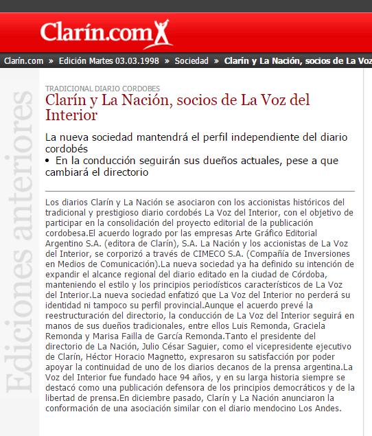 Archivo de Clarín